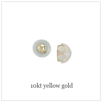 10kt Yellow Push-on Replacement Backs