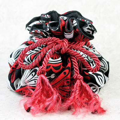 Red 8 Pocket Puff Pouch anti-tarnish jewelry storage