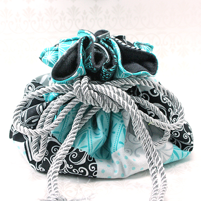 Teal 8 Pocket Puff Pouch