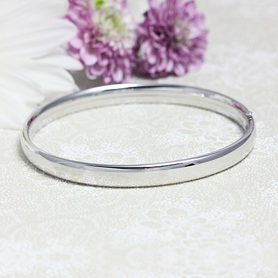 Adult Polished Sterling Bangle - 1681