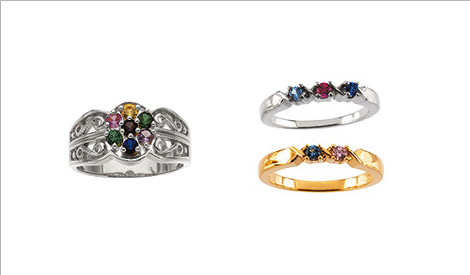 Mothers rings mothers birthstone rings mothers birthstone rings in sterling silver and gold beautiful family jewelry aloadofball Images