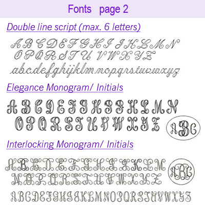 Fonts for sterling charm page two.