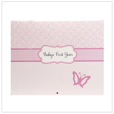 Adorable first year calendar for baby girls. Mark special events with ease; special stickers included to record milestones.