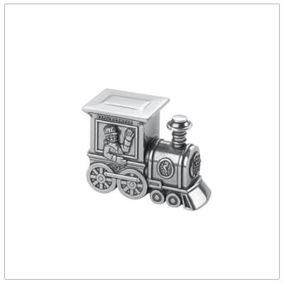 Pewter keepsake gift for boys, train tooth fairy box.