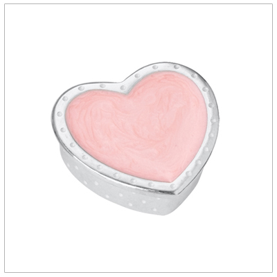 Girls pink heart and polka dots tooth fairy box finely crafted in pewter. Made in America.