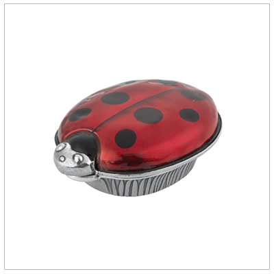 Ladybug tooth fairy box for girls finely crafted in pewter. Our ladybug box can also hold a first curl or special treasures.