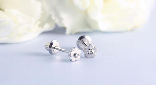 baby diamond earrings