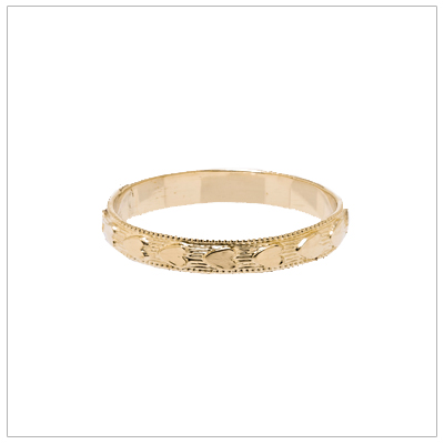 14kt yellow gold baby rings in two sizes.