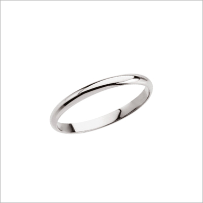 Traditional baby rings in 14kt white gold, the white gold rings make beautiful baby gifts.