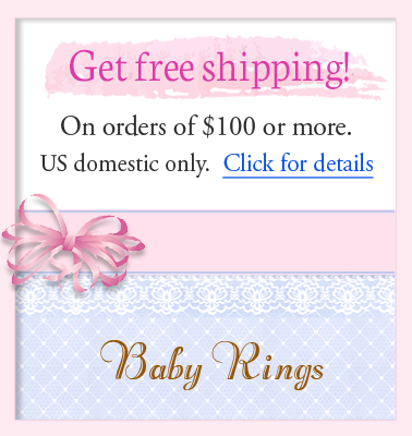 Information on free shipping for baby jewelry.
