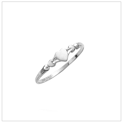 Silver Sweetheart Baby Rings - 1478