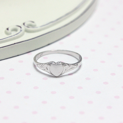 Sterling Silver Heart Baby Rings
