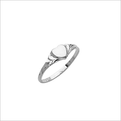 Sterling Silver Heart Baby Rings - 1558