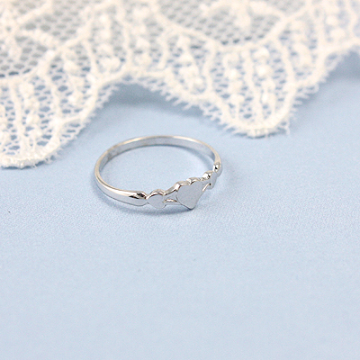 White Gold Sweetheart Baby Rings - 1541