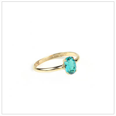 10kt gold birthstone ring for girls with an oval birthstone, December birthstone ring.