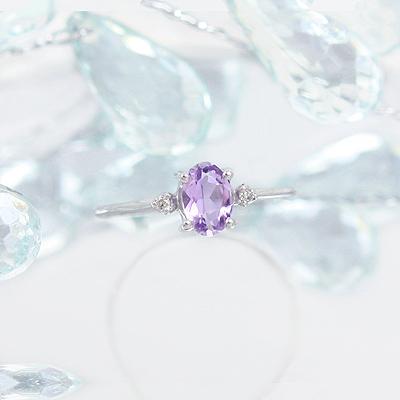 14kt White Gold Diamond Birthstone Rings - 1613