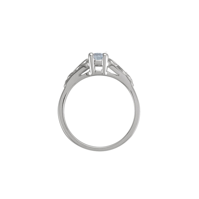 Side view of April birthstone ring.