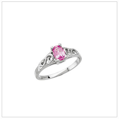 ring fantasy october angel rings jewelry heart products online pink tourmaline birthstone wing