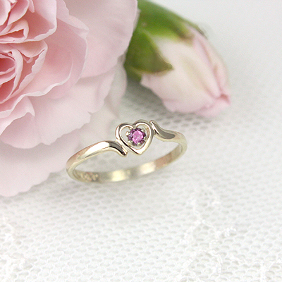 pink birthstone tourmaline ring rings october