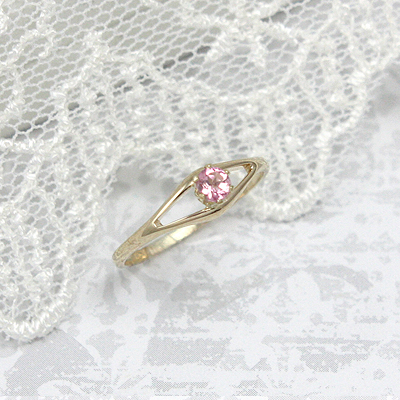 Girls 14kt Gold Birthstone Ring