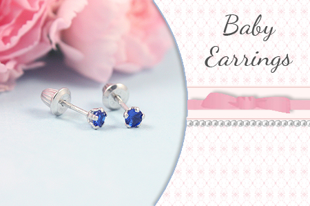 Baby and infant earrings