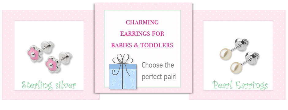 Baby and toddler earrings in various selections.