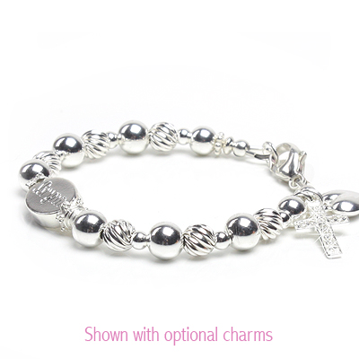 Baby and children's engraved bracelet in sterling silver.