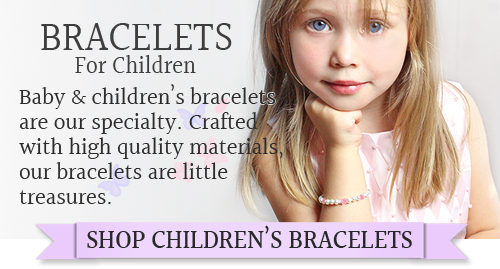 Customer favorite children's bracelets in pearls, sterling and 14kt gold.