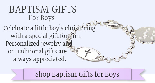 Handsome personalized baptism gifts for boys.