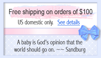 Information on free shipping for Baptism bracelets.