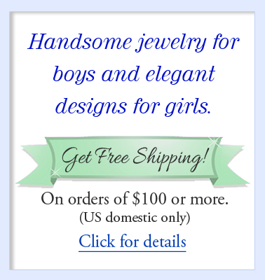 Information on free shipping for Baptism jewelry.