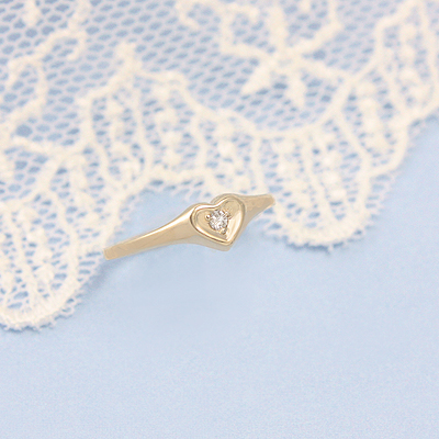 10kt Diamond Heart Ring