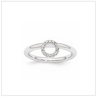 Stackable Diamond Halo Ring