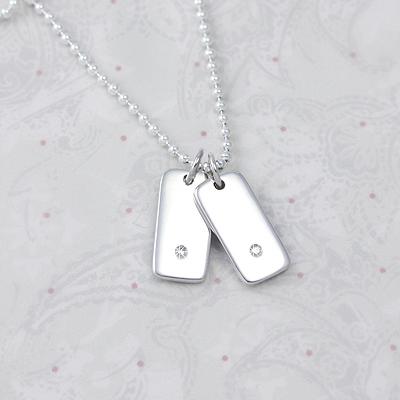Sterling Silver Diamond Bracelet Charms