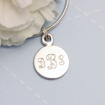 sterling silver engraved charms