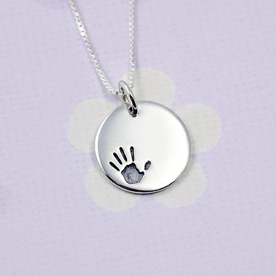 Silver Handprint Bracelet Charms
