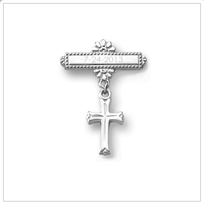 Sterling Cross Baptism Pin