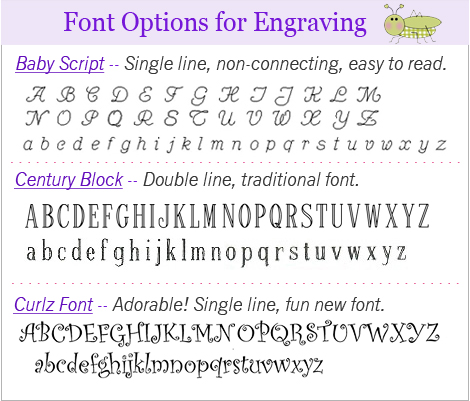 fonts page one