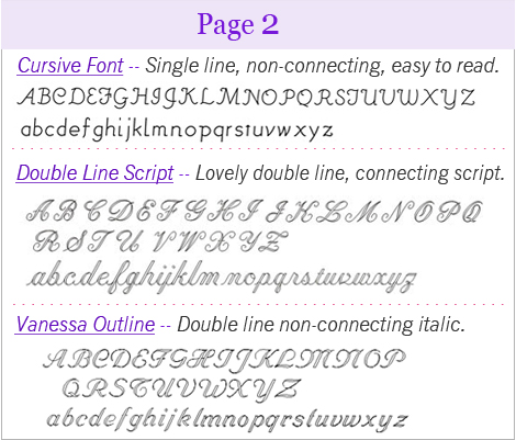 fonts page two