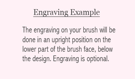 explanation of engraving placement