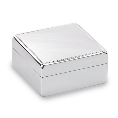 Non-tarnish nickel-plated gift box with 4 lines of engraving available. Engraving is free.