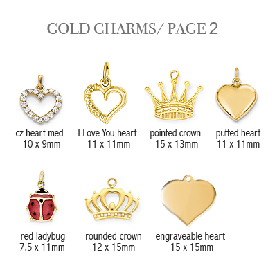 14kt gold charms to add to baby bracelets, page 2.