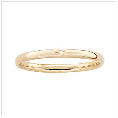 14kt gold filled bangle bracelet for children set with a genuine diamond.