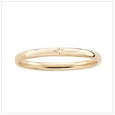 14kt gold filled bangle bracelet for children set with a genuine diamond.