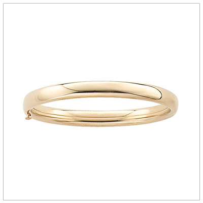 14kt Gold Filled Polished Baby Bangles 4.5 inches with a safety hinge for security