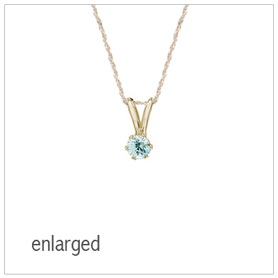 December birthstone necklace for girls in 14kt yellow gold with genuine birthstone.