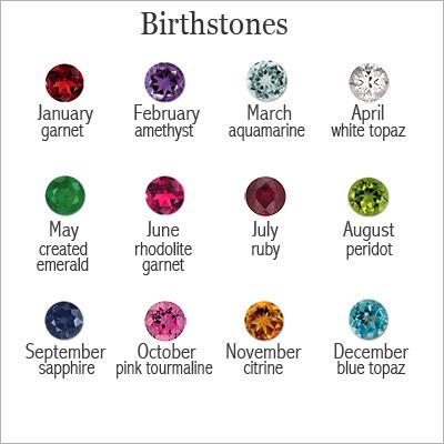 Silver Rose Birthstone Rings - 1114