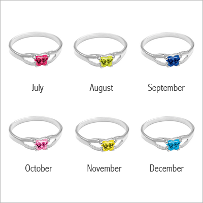 Birthstone colors for rings.