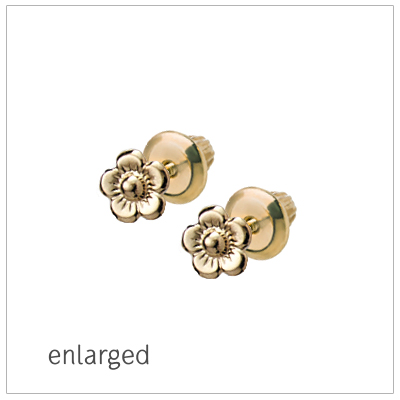 14kt Gold Baby Flower Earrings