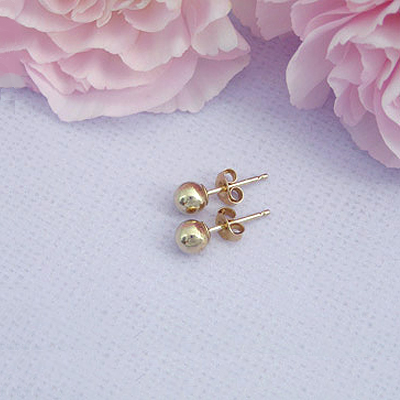 14kt Gold Ball Earrings